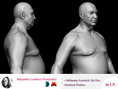 3d Character Modeler Old Man cinema trailer games videogames videogame mudbox max autodesk human modeler character 3d