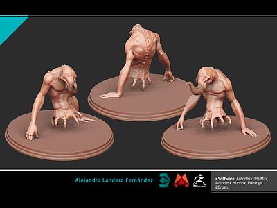 CHOKE - POSE videogames console next generation production cinematic nextgen modelling td modeller creature character 3d