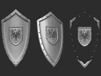 Medieval Shield production cinematic nextgen modelling td modeller animation cartoon character 3d
