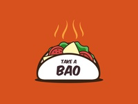 Take A Bao illustraion logodesign kitchen fresh graphicdesign graphicdesigner takeaway food bao branding ui illustration gradient colorful sale logo
