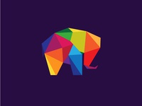 Colorful Elephant Logo