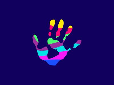 Creative, Colorful Hand Logo