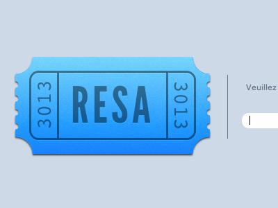 Resa - Password blue ticket webdesign