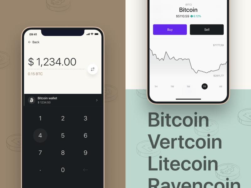 Vertbase app ux ui mobile app crypto calculator analytics dark tiempos significa ios app wallet bitcoin product