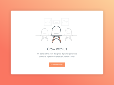 Work with us icon chair website web illustration mail client mailcube mail