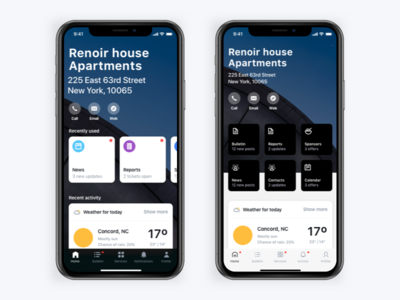 A or B? interface sf weather icons responsive mobile x iphone significa ui