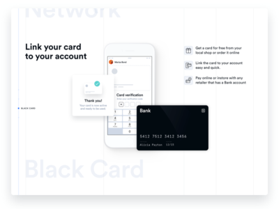 Link your card! interface grid circular bank card iphone white ui significa
