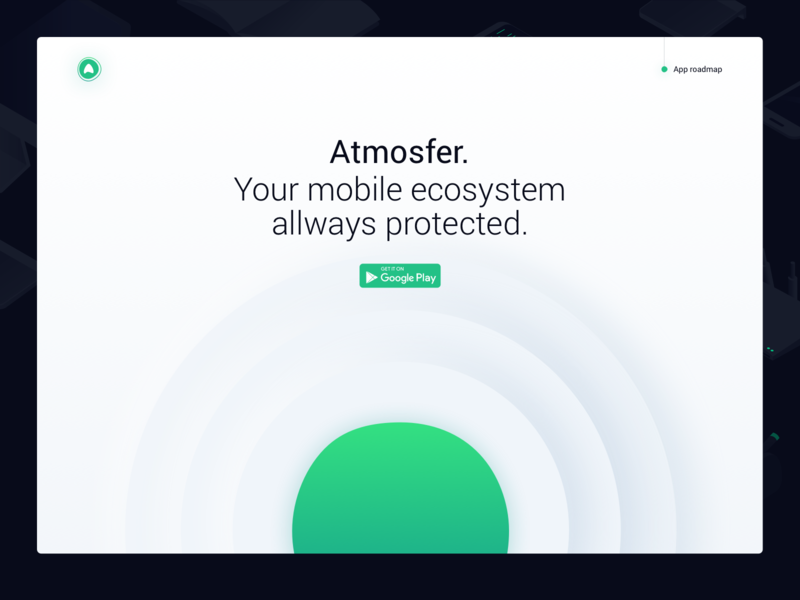 atmosfer.app Website significa green roboto desktop landing page app