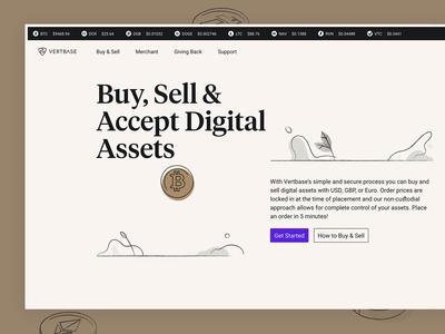 Vertbase Landing Page significa illustration animation currency crypto tiempos website desktop landingpage hero