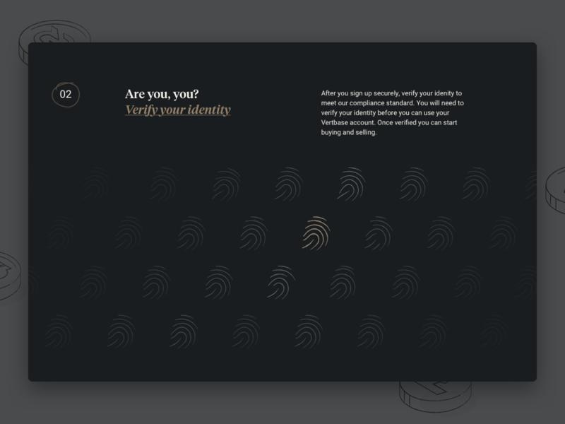 Vetbase Verify Identity desktop website security significa tiempos fingerprint gold dark crypto