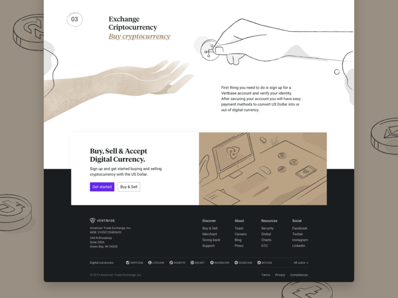Vetbase Footer currency crypto dark computer hands interface significa tiempos serif webdesign illustration desktop footer