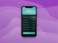 Mobile Eth Wallet Project iphonex waves blue app mobile venmo crypto