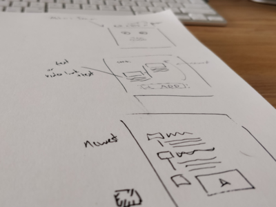 Wireframes In Progress