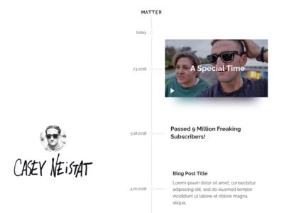 Vlog Timeline Mockup - WIP studio product matter neistat casey site video blog vlog