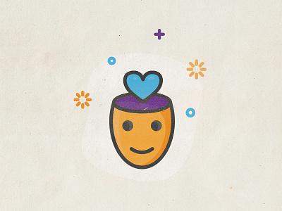 Open Mind icon design illustration tourism activities travel icon heart love open mind mind