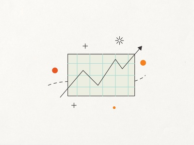 Trending And Influencer Communications influencer illustration icon trends growth chart