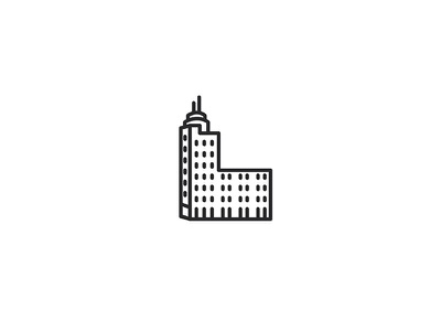 Bucharest Telephone Palace art deco architecture building branding set symbol city icon design icon