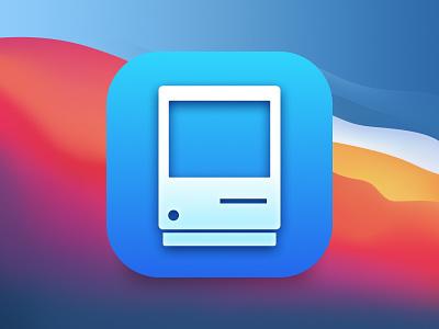 Mactracker Icon ui design skeumorphism skeuomorphic skeuomorph flat application app store apple app macintosh macos icon tracker mactracker mac big sur