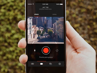 Camera mode picture recording dailyui ios android mobile design ux interface ui camera jac motors