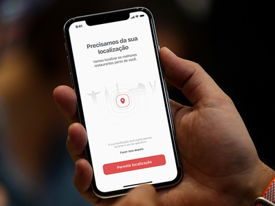 Requesting permission iphone ios ui button tour onboarding empty permission pin map location