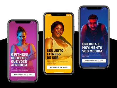 Fitness Channel Onboarding interface dailyui design ui mobile tour plan flat android iphone ios walkthrough application app onboarding fitness