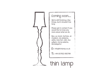 'Under Construction' Page for Thin Lamp