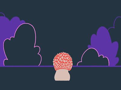 shroom walkcycle muscaria amanita mushroom character animated traditional animation photoshop frame by frame character animation cel animation 2d animation 2d animation