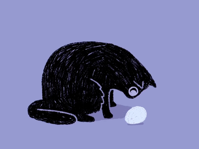 kitty hand drawn cute egg kitty cat animated gif animated photoshop character animation traditional animation frame by frame 2d animation cel animation animation