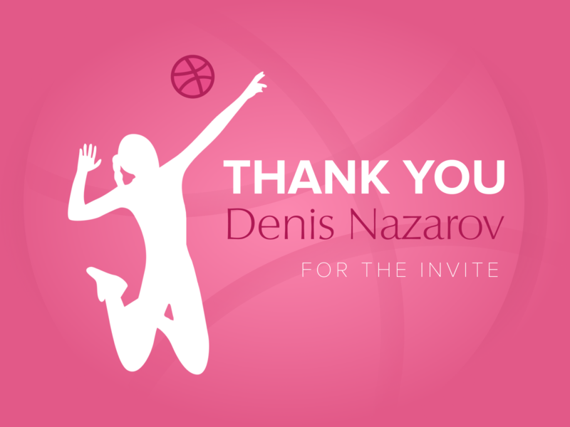 Hello dribbble thank you debut shot invitation hello first debut