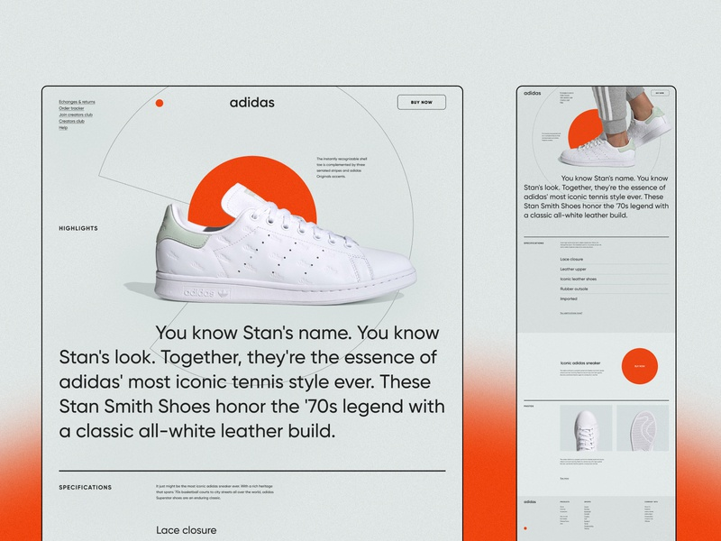 Landing page concept typography brand design design 003 dailyui identity branding minimalism 2020 trend ux ui clean ui sneakers web webdesign