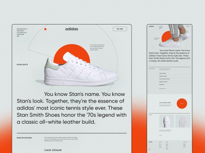 Landing page concept figma adidas typography 003 dailyui identity minimalism 2020 trend ux ui clean ui sneakers web webdesign