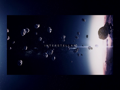 Interstellar video after effects aftereffects 3d space animation design