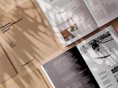 Acryl brand design branding acryl stone shadow brochure design brochure