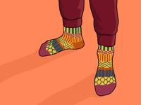 Socks of the Day Illustration