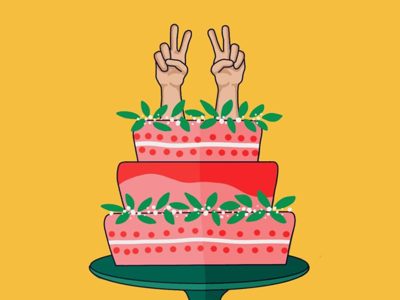Fantastic 22Nd Birthday Cake By Lydia Tarleton On Dribbble Personalised Birthday Cards Akebfashionlily Jamesorg