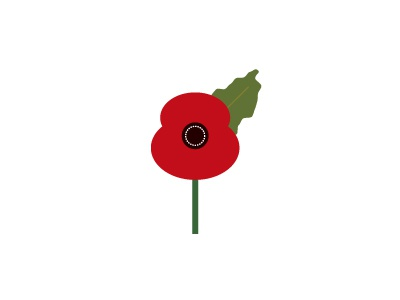 Poppy  11th day 11th month 11th hour symbol remembrance vector poppy