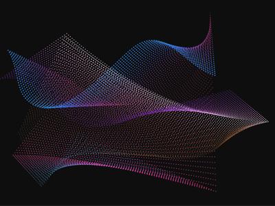 Coloured Particles blue pink black print vibrant colour design vector particles