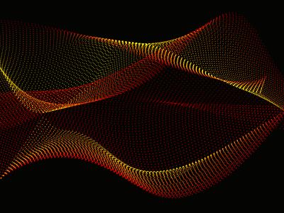 Orange Particles blue pink black print vibrant colour design vector particles