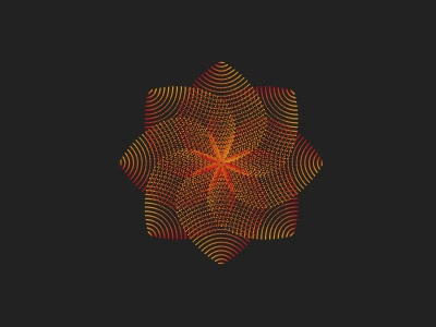 Flower design adobe illustrator shapes lines wip graphic gradient spine design flower
