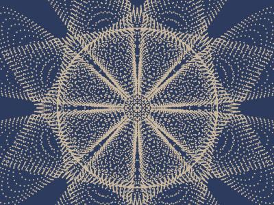 Particles Pattern experiment blue black print vibrant colour design vector particles