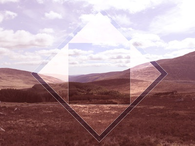 Diamond Wicklow wip learning skills experimental photoshop photography geometric polyscape poly wicklow