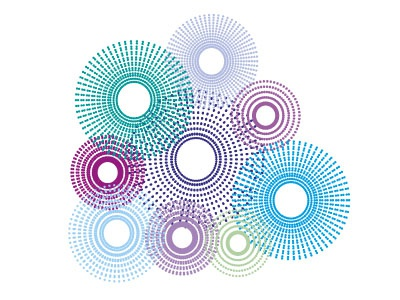 Dotted circles colour colourful graphic design illustration vector circles dots