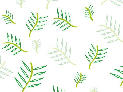 Palm pattern paintbrush digital illustration creative design tree patterns leaves palm