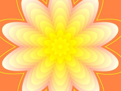 Yellow flower experiement digital art vector illustrator pattern floral flower yellow