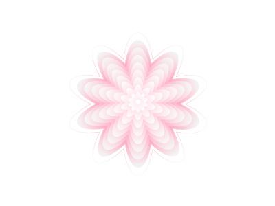 Pink flower gradient experiment monday girly pink graphic design vector art illustrator pattern