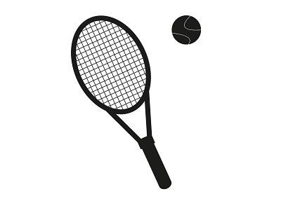 Vector Tennis racket and ball adobe illustrator ball racket tennis illustrator illustration sport