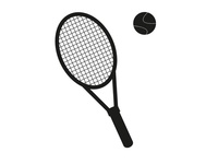 Vector Tennis racket and ball