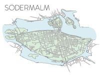 Södermalm City Map