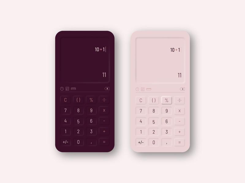 Daily UI Challenge 004 - Neumorphic Calculator