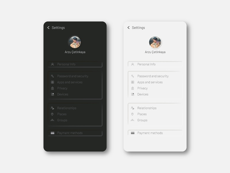 Daily UI Challenge 007 - Settings Page